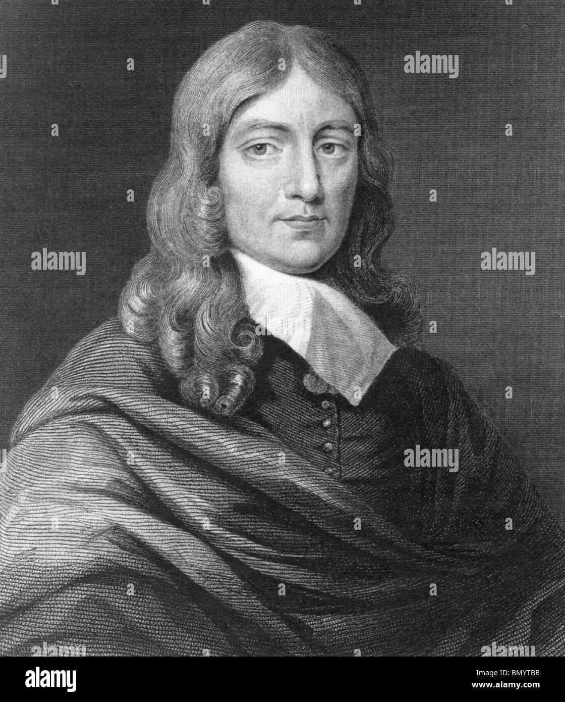 JOHN MILTON - English poet (1608-1674) - Stock Image