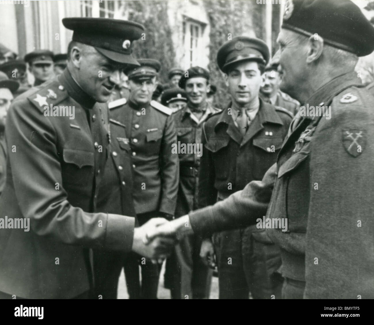 FIELD MARSHALL BERNARD MONTGOMERY on a visit to Moscow in 1945 - Stock Image