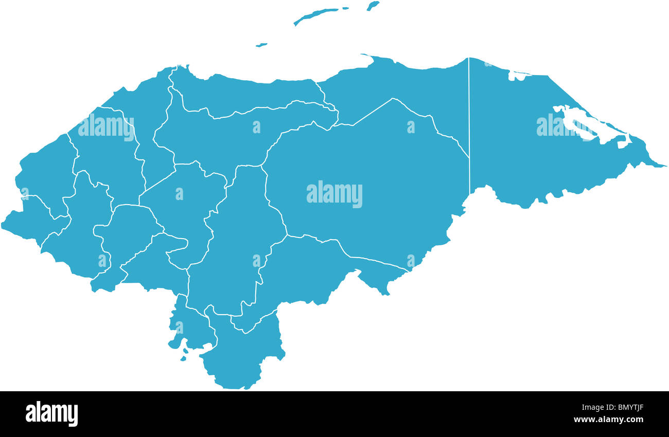 Honduras Map Stock Photos & Honduras Map Stock Images - Alamy