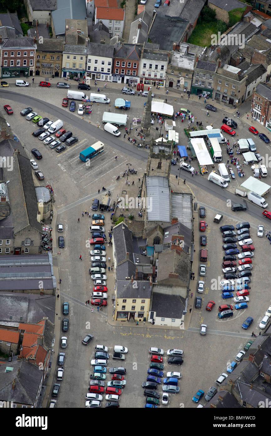 Market Square, Richmond, North Yorkshire, Northern England Stock Photo