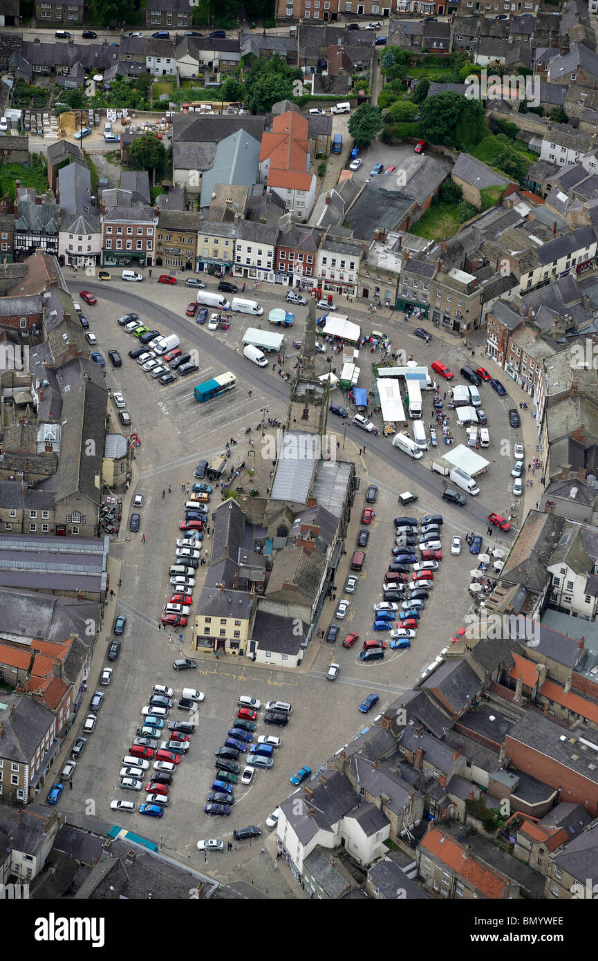 Market Square, Richmond, North Yorkshire, Northern England Stock Photo
