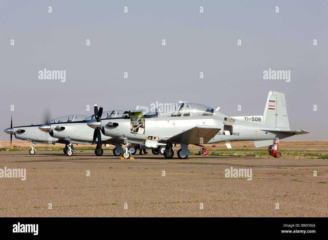 T-6 Texan trainer aircraft of the Iraqi Air Force. - Stock Image
