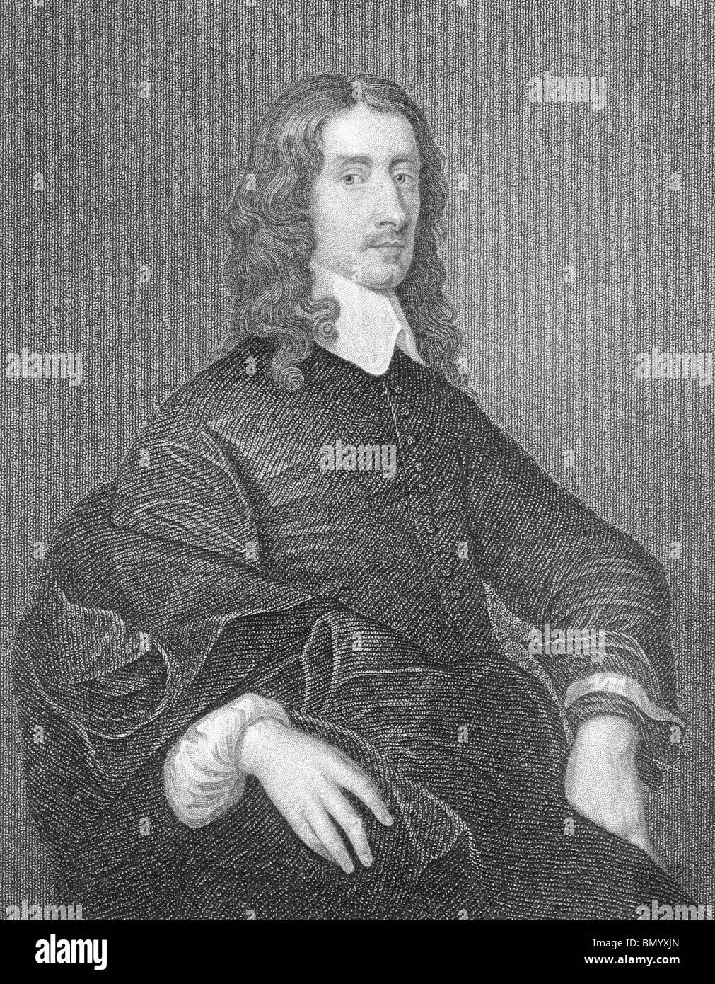 John Selden (1584-1654) on engraving from the 1800s. English jurist, scholar and polymath. - Stock Image