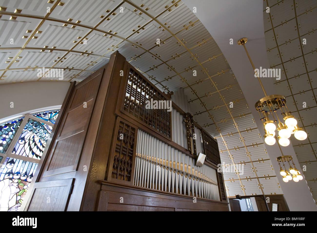 Otto Wagner's St Leopold Church, Vienna, Austria - Stock Image