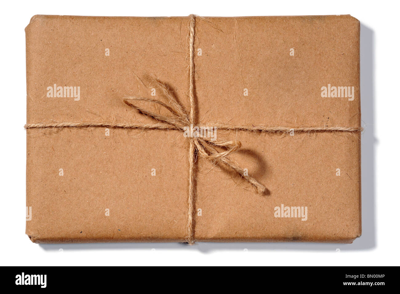 Package tied with string - Stock Image