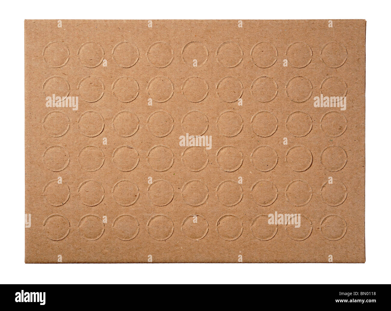 Cardboard with circles - Stock Image