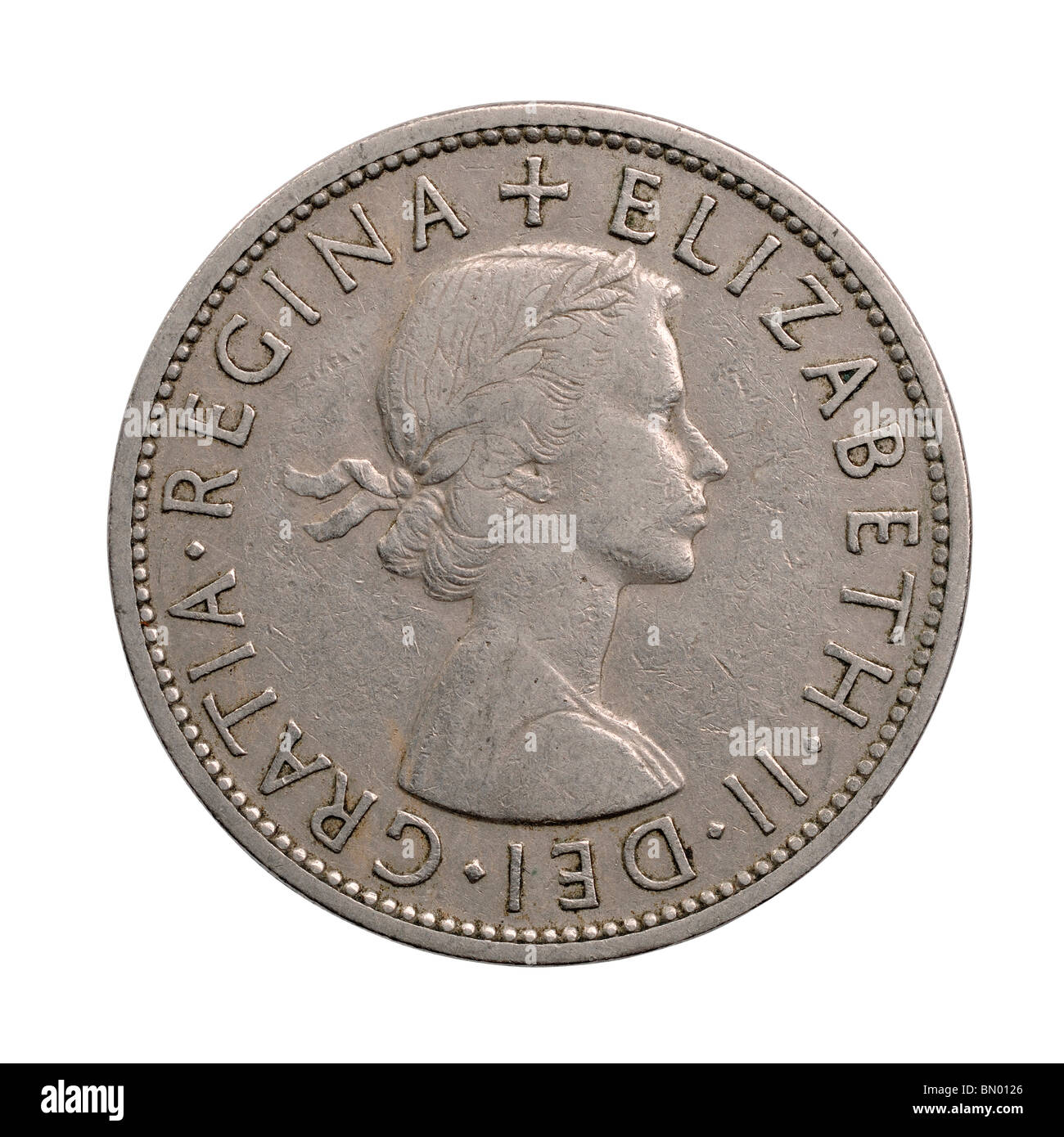 1956 Half Crown coin - Stock Image