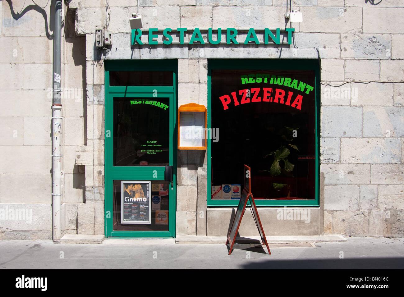 Pizzeria Pizza Restaurant Shop Front Door Doorway Stock Photo