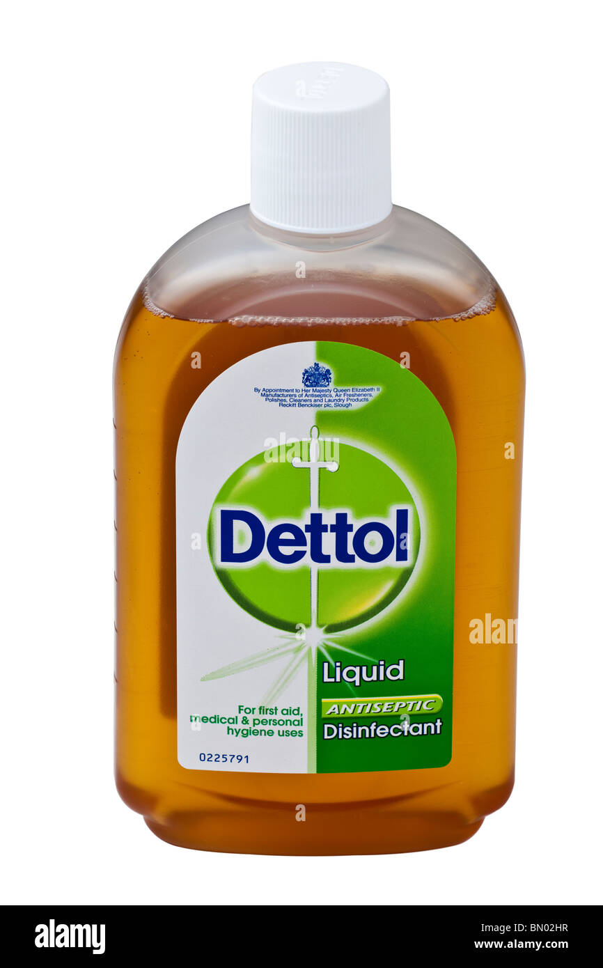 Bottle of Dettol liquid antiseptic disinfectant - Stock Image