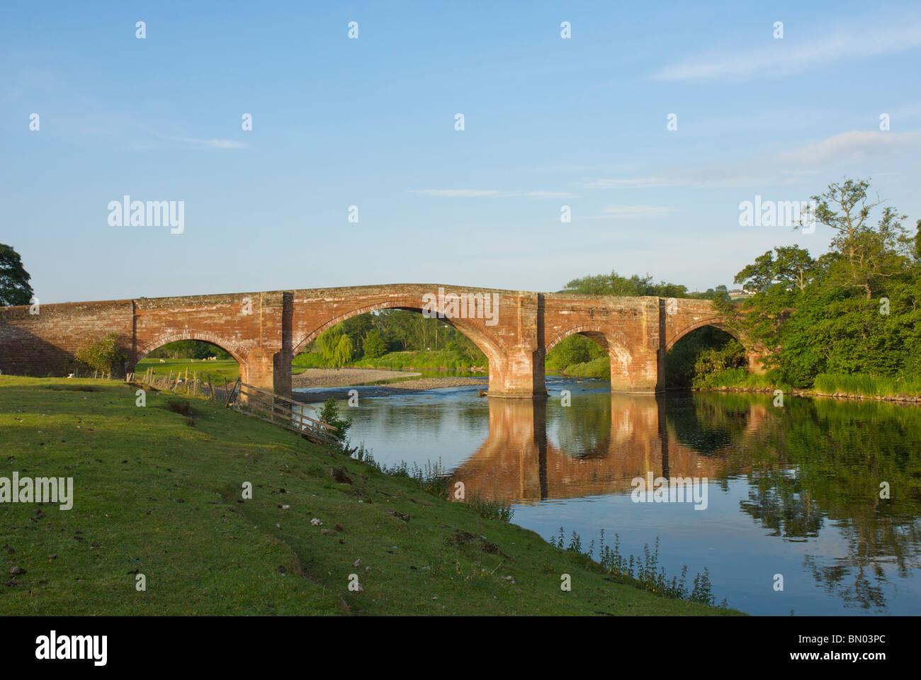 Bridge over the River Eden near Lazonby, Eden Valley, Cumbria, England UK - Stock Image