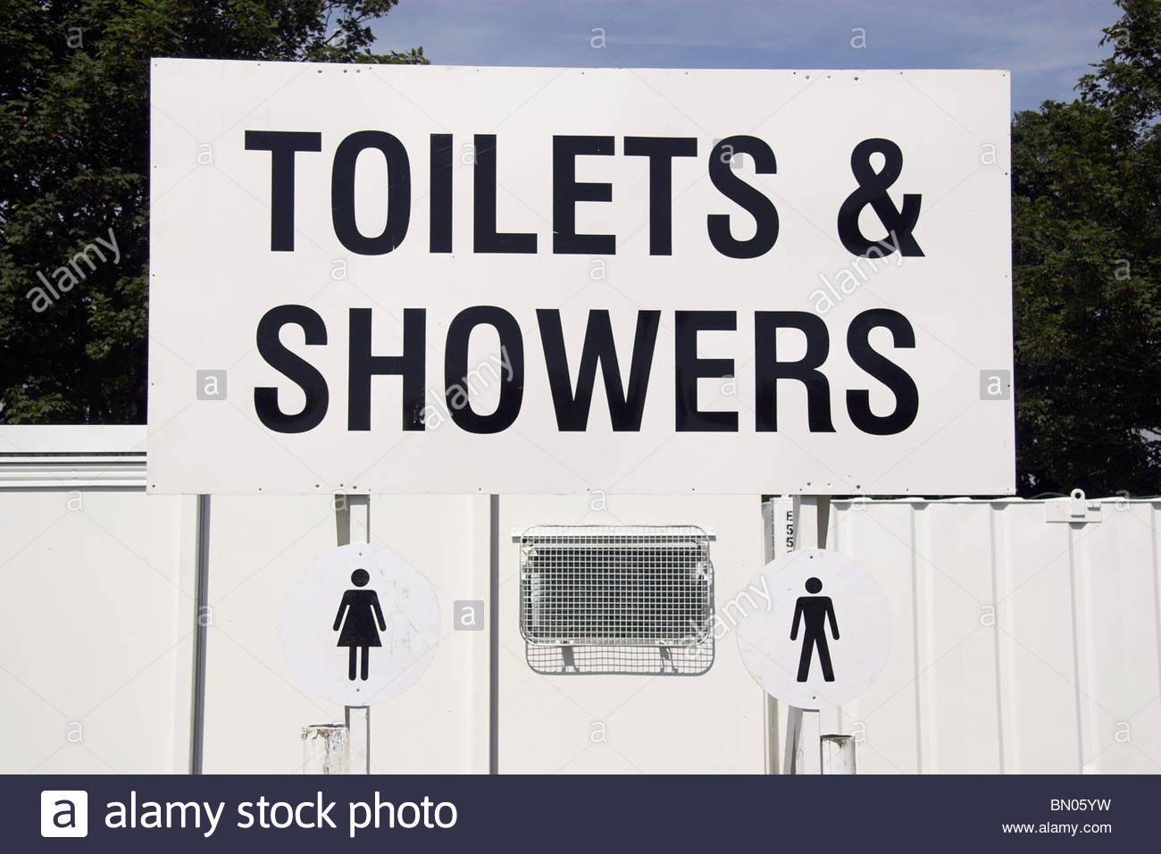 Toilets and Showers at a festival site, UK Stock Photo: 30122845 - Alamy