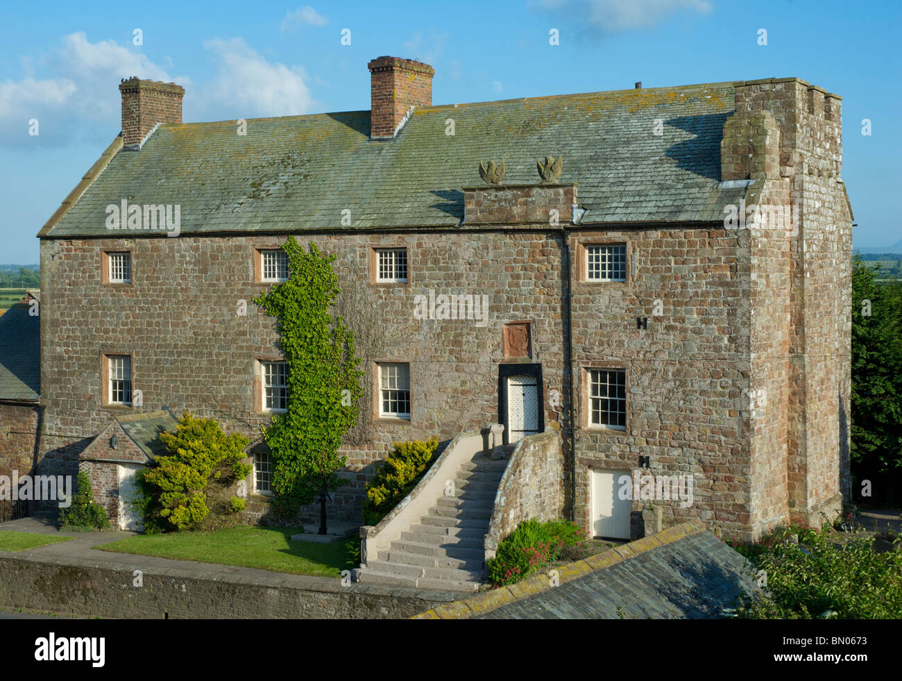 Drumburgh Castle, a fortified house in border country, Cumbria, England uk - Stock Image