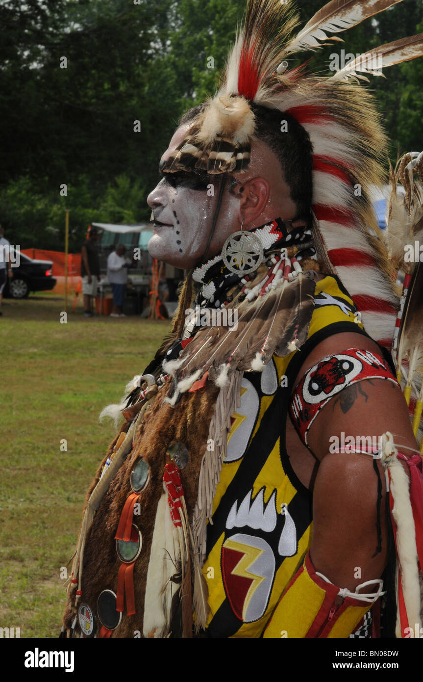 A Native American from the Cherokee tribe at a Pow Wow in Waldorf