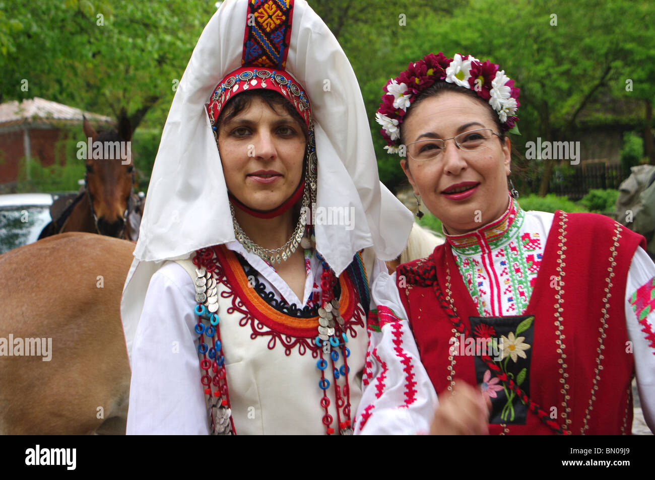 Women's Costumes from Gabrovo, Bulgaria. - Stock Image