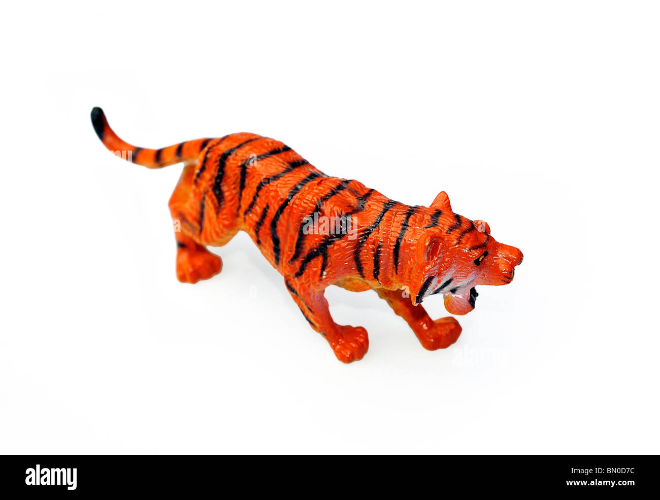 Toy plastic tiger - Stock Image