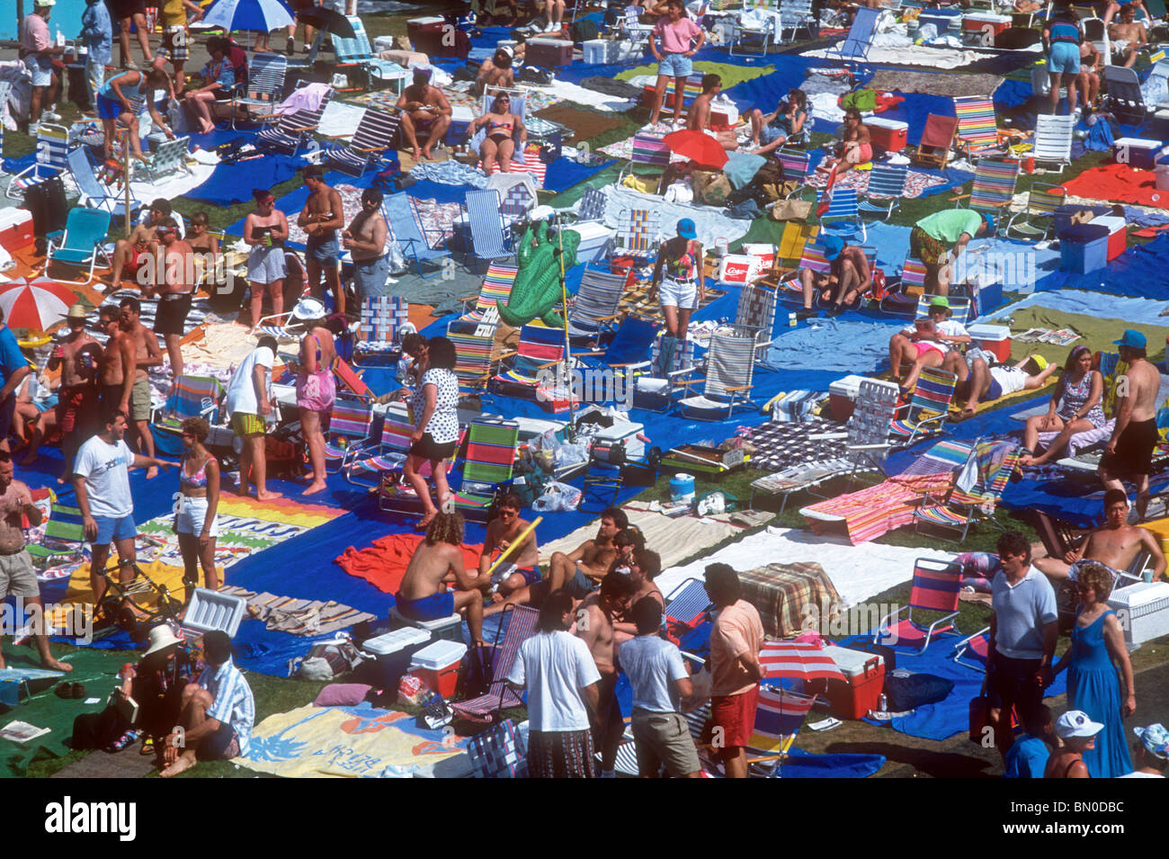 Jazz festival crowd at Saratoga Performing Arts Center - Stock Image