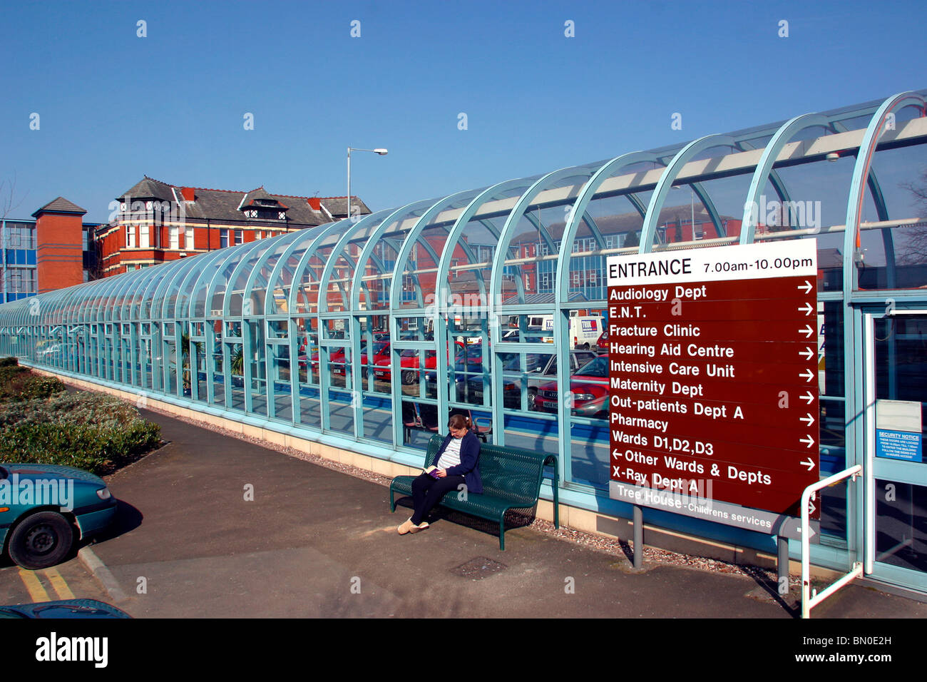 Map Of Stepping Hill Hospital UK, England, Cheshire, Stockport, Hazel Grove, Stepping HIll Stock