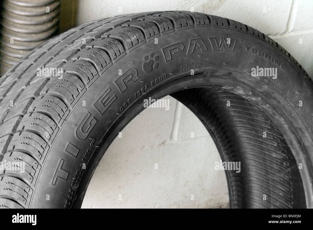 Tiger Paw brand touring tire - Stock Image