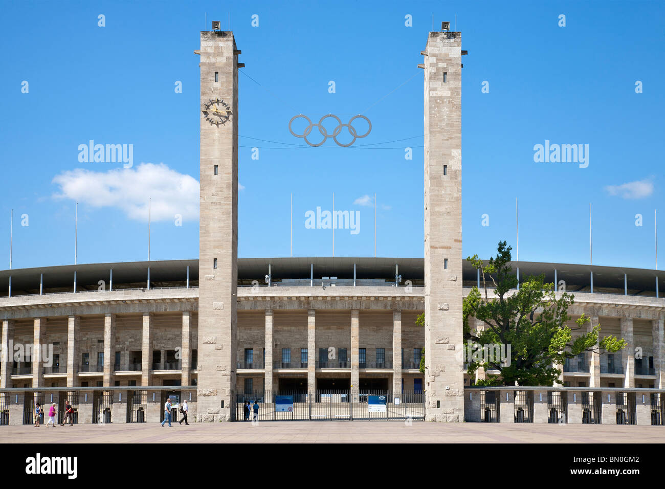 Olympic Stadium, Berlin, Germany - Stock Image