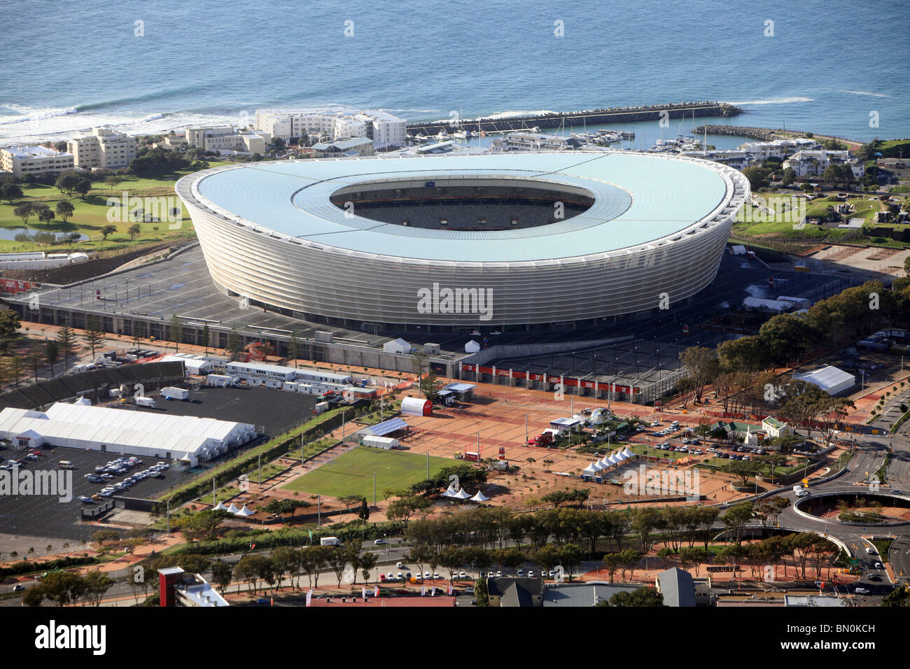 Cape Town, Green Point Stadium - Stock Image