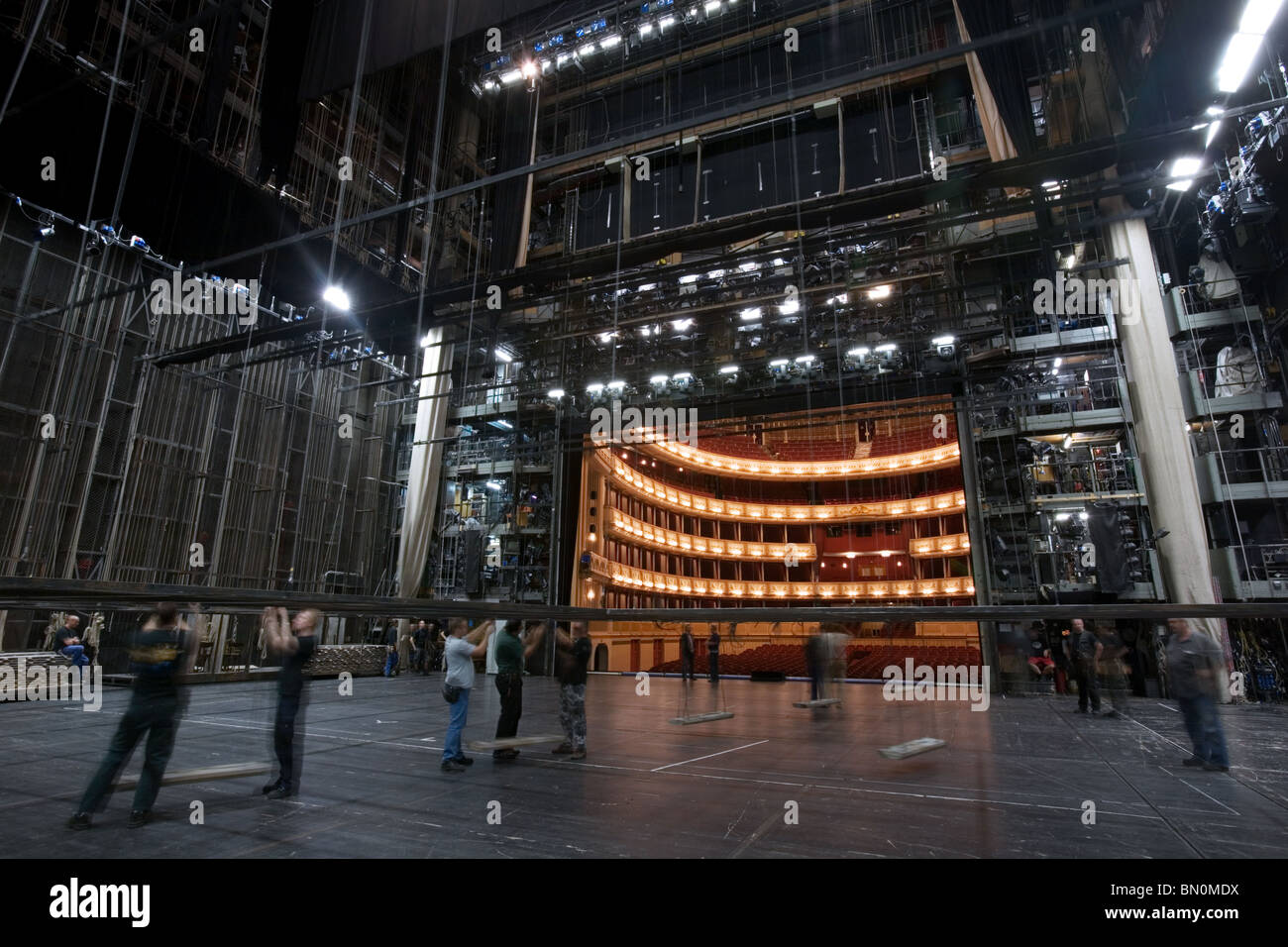 Vienna Opera Backstage, Austria - Stock Image