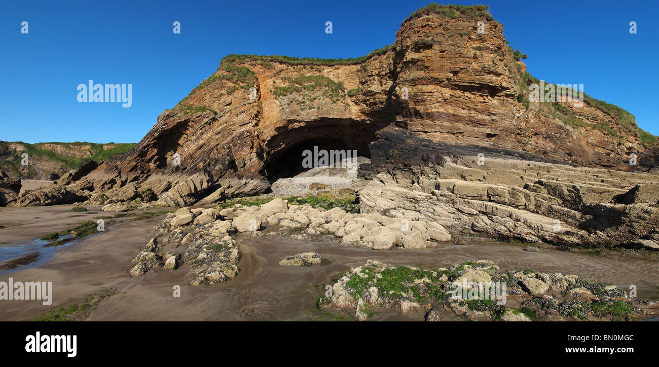 beach little haven pembrokeshire wales uk - Stock Image