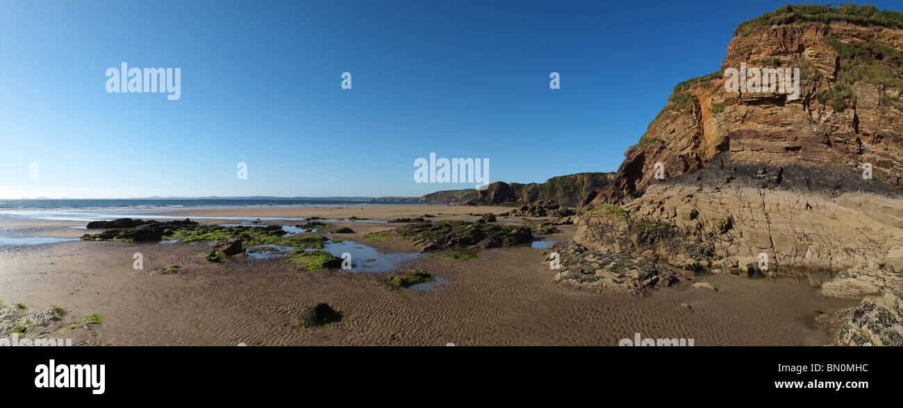 the beach at little haven on the pembrokshire coast dyfed wales - Stock Image