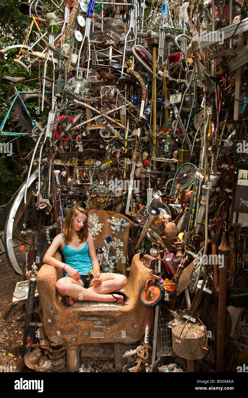 The Cathedral of Junk, Austin, Texas, United States of America - Stock Image