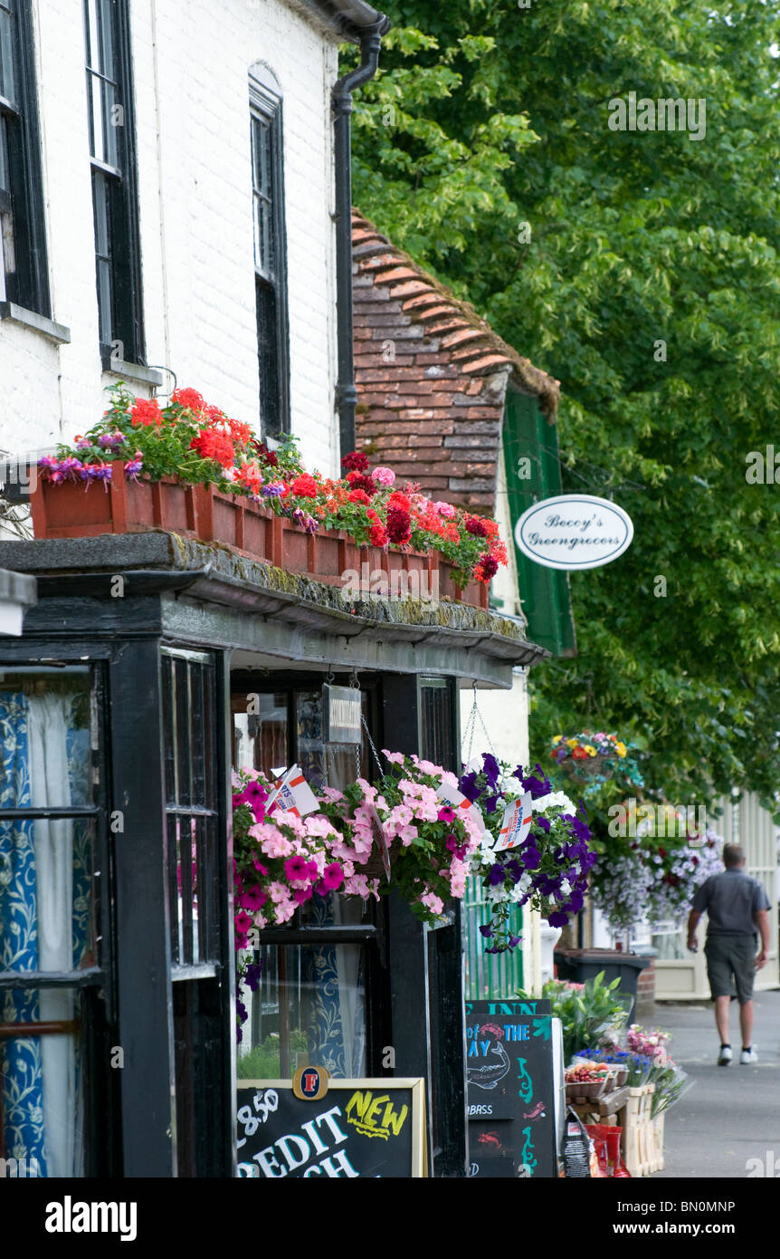 Hampshire's Stockbridge High Street was voted 'best foodie street' in the, UK, Stockbridge, Hampshire, - Stock Image