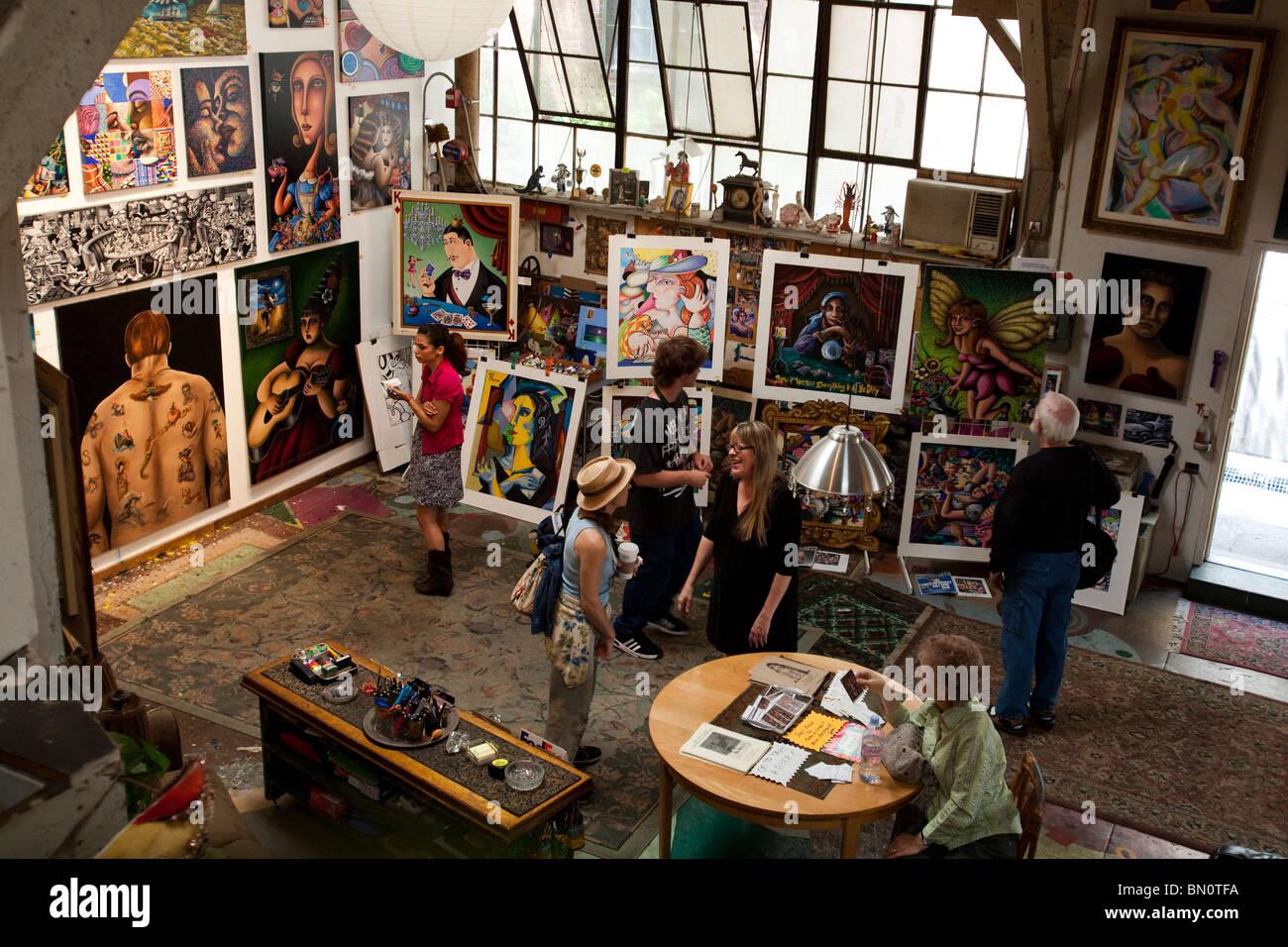 Jett Jackson S Studio Santa Fe Art Colony Open House Los Angeles Stock Photo Alamy