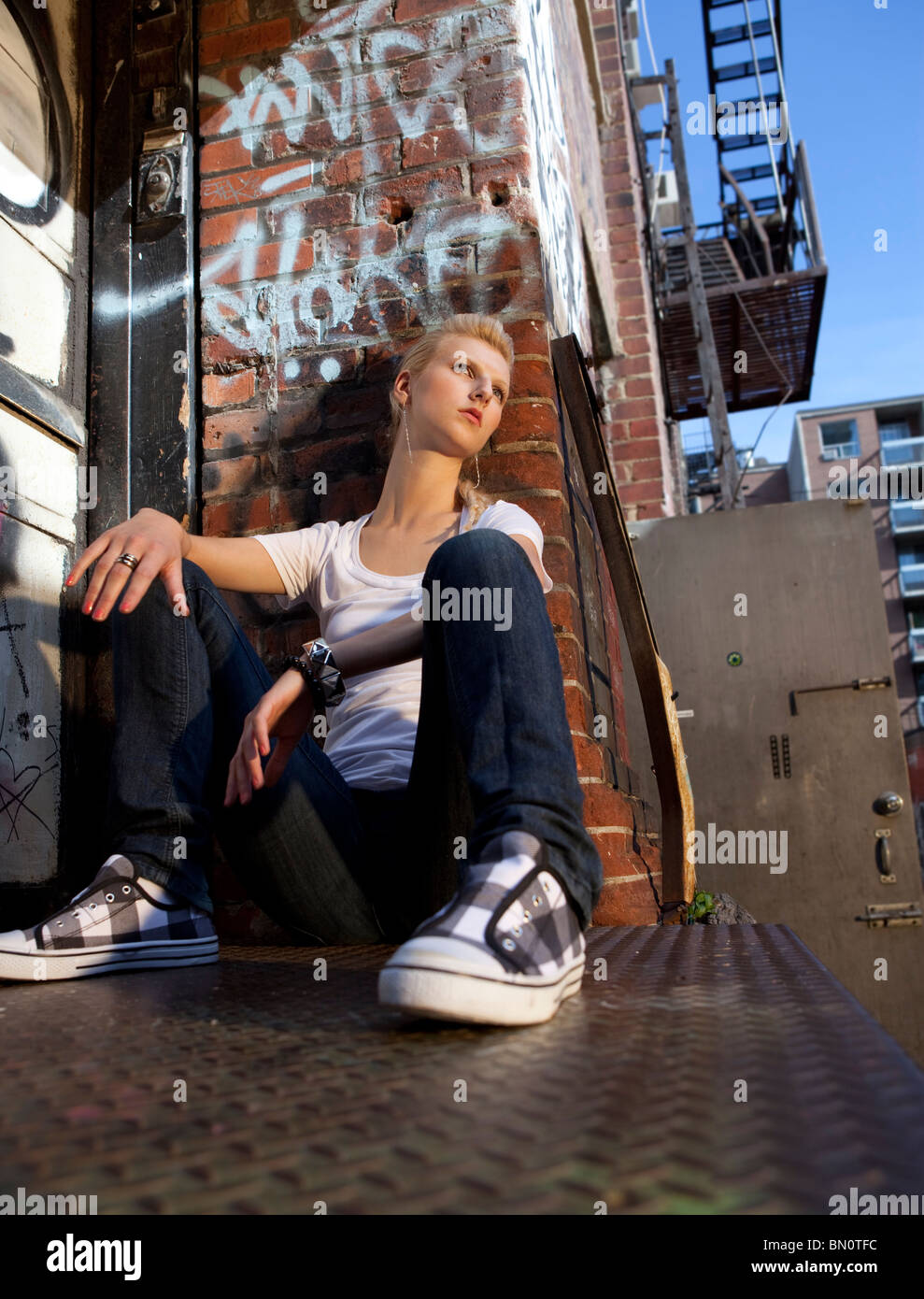 urban portrait - Stock Image