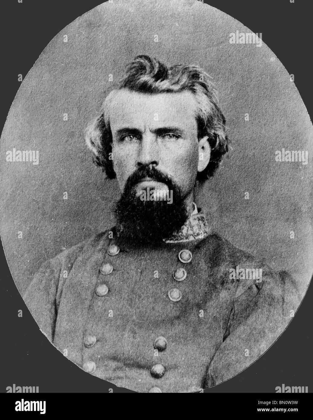 General Nathan B. Forrest - Confederate General - USA Civil War - Stock Image