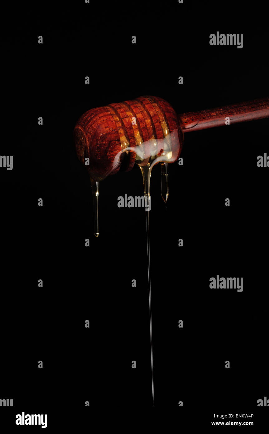 Dripping Honey drizzler - Stock Image
