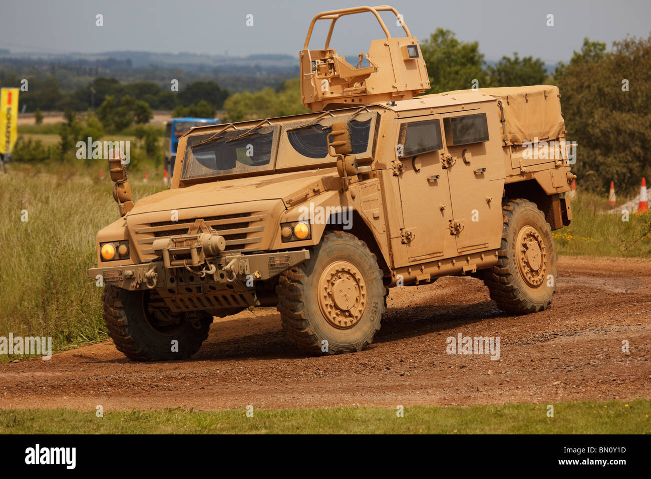 A Renault/Land Rover planned future Sherpa Operational Utility Vehicle System for use by the British Army - Stock Image