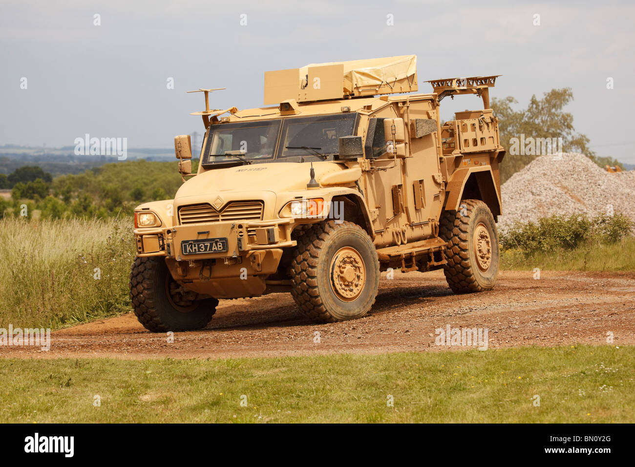 A Navistar Husky protected Tactical Support Vehicle (TSV) of the British Army. - Stock Image
