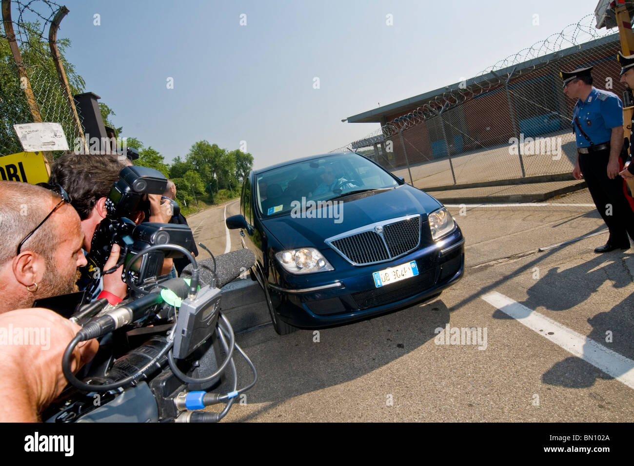 Italian national football team arrives from South Africa. Milan Malpensa airport, 26.06.2010 - Stock Image