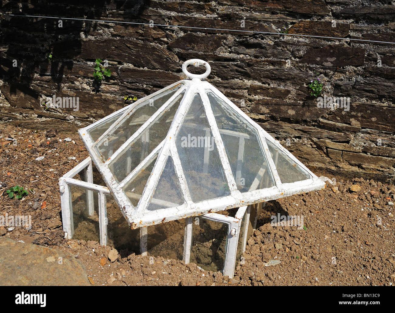 a victorian kitchen garden cloche - Stock Image