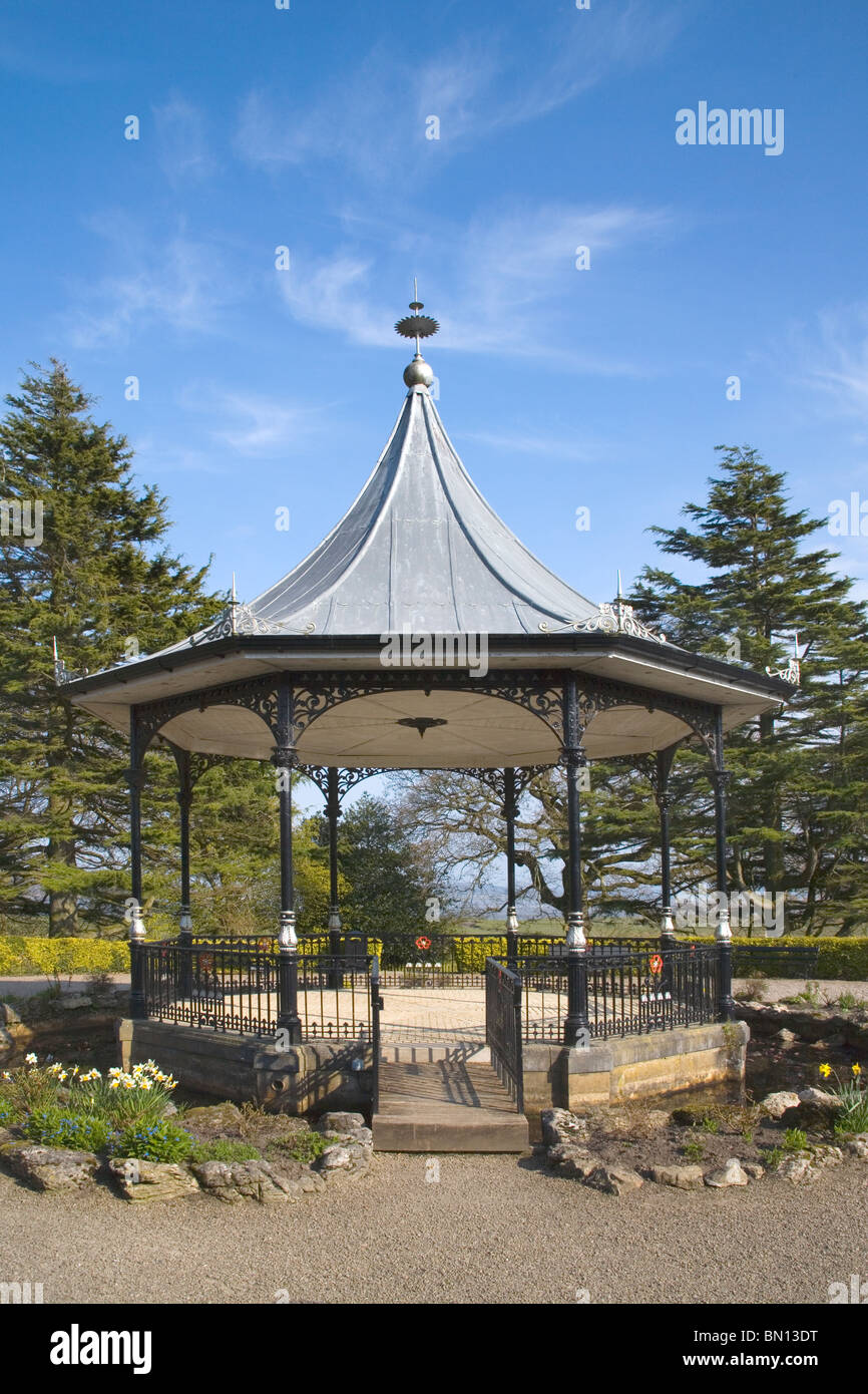 bandstand at grange over sands on the cumbria coast - Stock Image