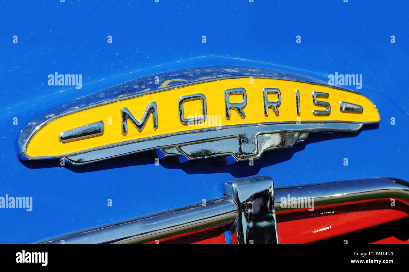 an old morris badge logo, uk - Stock Image