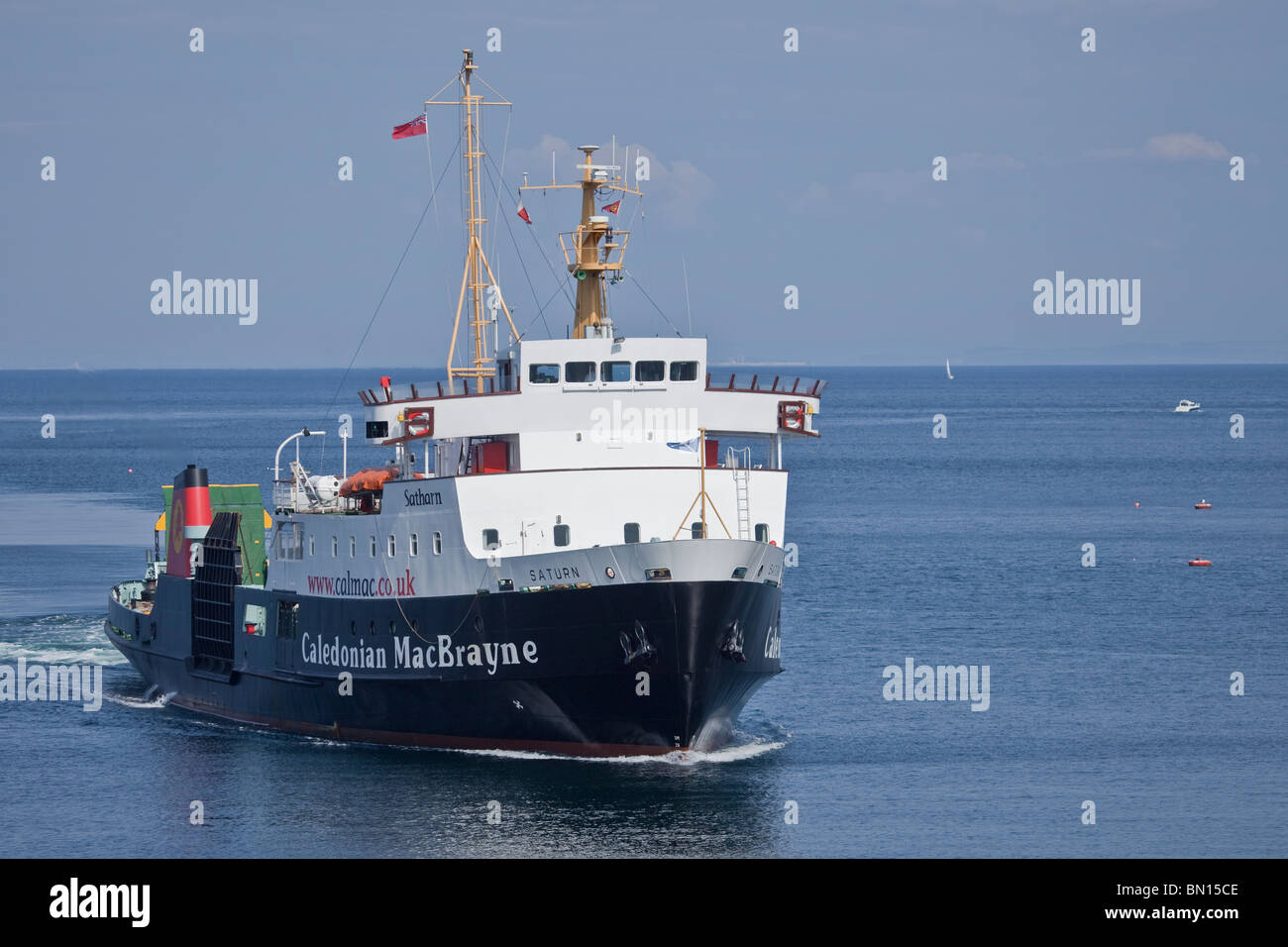 MV Saturn/Satharn; the supplementary passenger/vehicle ferry which is used on the Ardrossan to Arran route in summer. - Stock Image