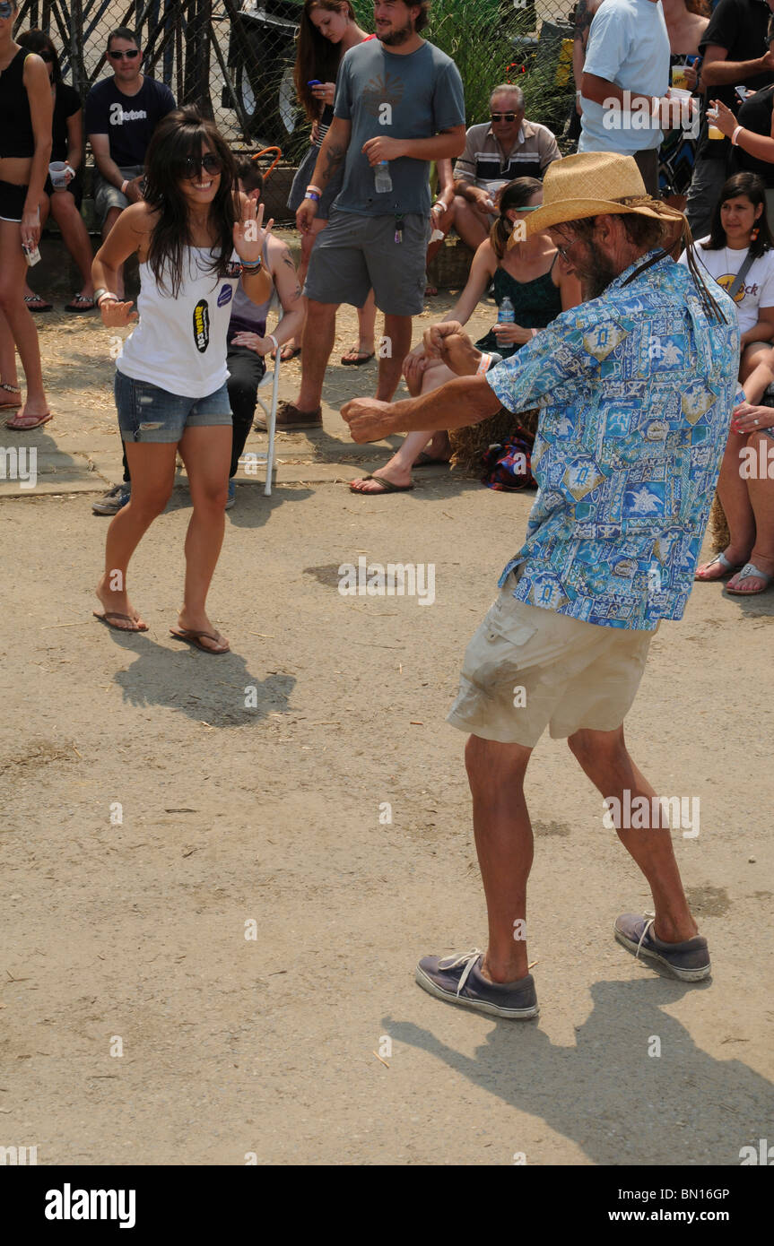 Hundreds of people came out in 90 degree heat to participate in the annual Eastport's a Rockin festival in Annapolis, Stock Photo