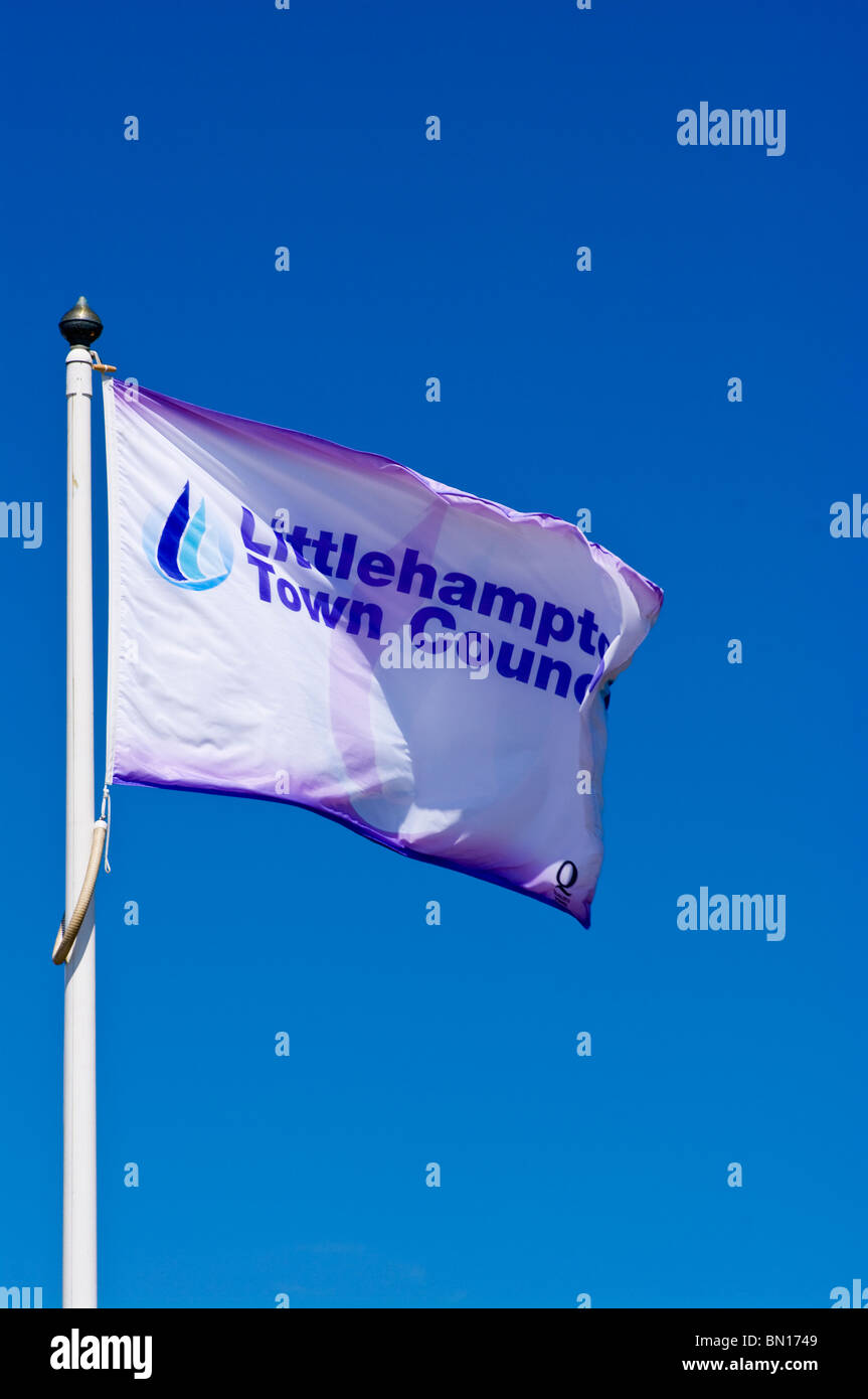 Littlehampton Town Council Flag - Stock Image