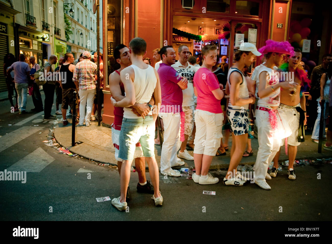 Gay district in paris