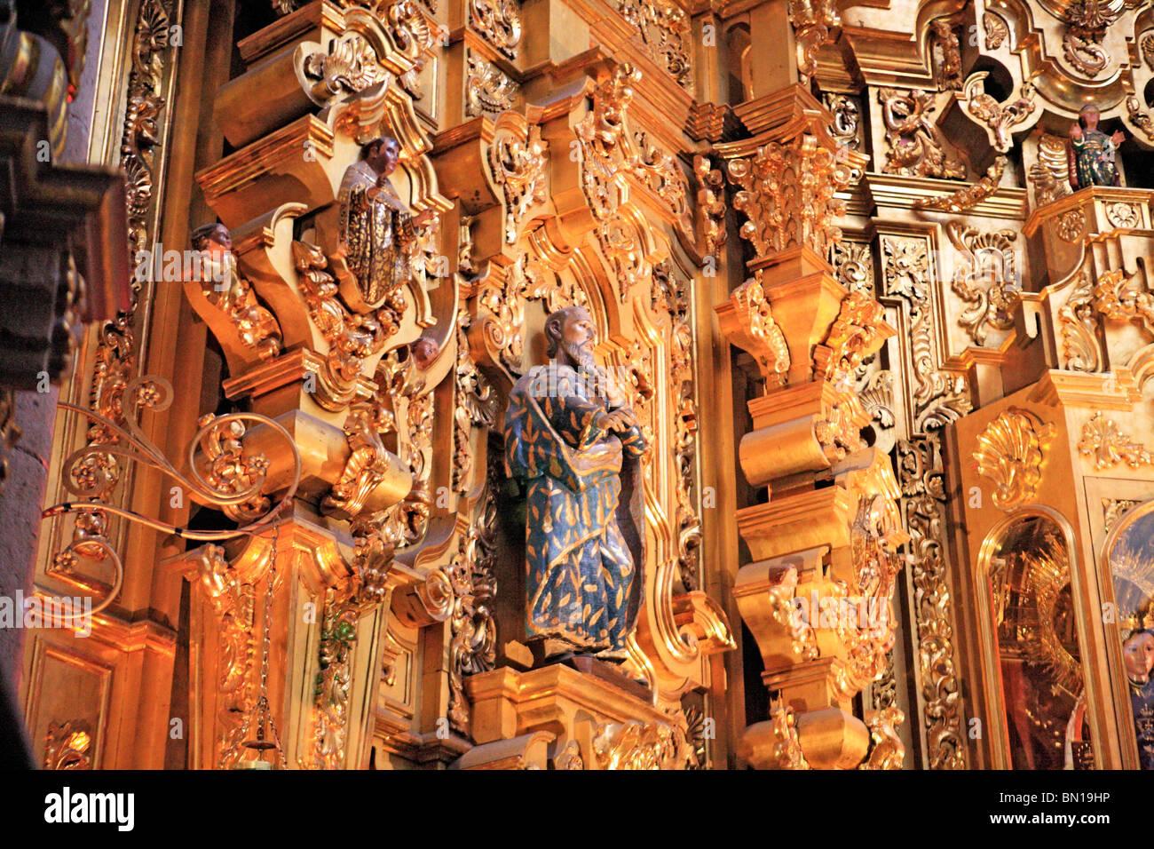 Church of Carmen (1768), San Luis Potosi, state San Luis Potosi, Mexico - Stock Image