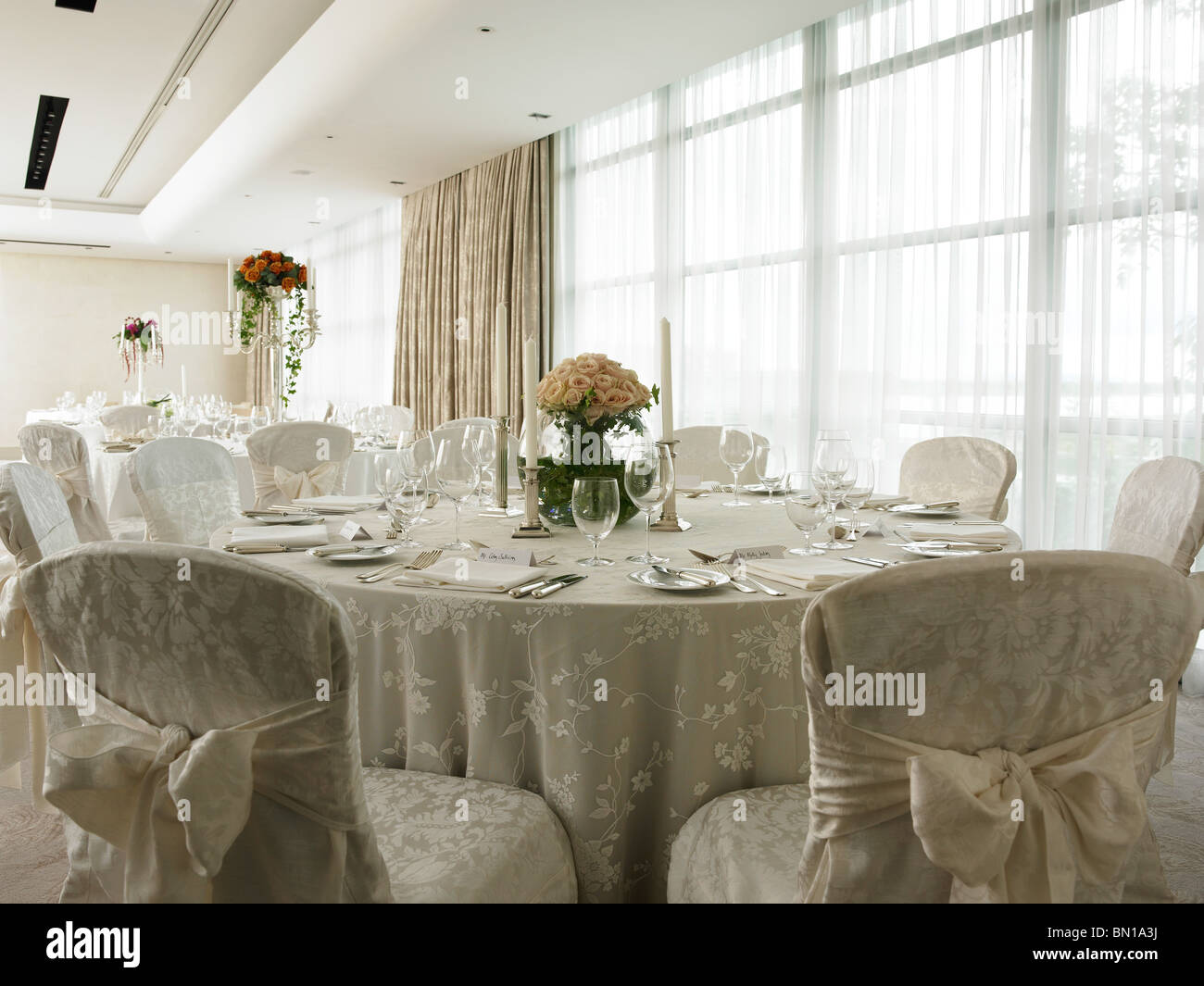 Wedding table set-up in the Event suite at the g Hotel in Galway. & Wedding table set-up in the Event suite at the g Hotel in Galway ...
