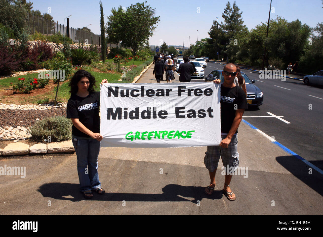 Nuclear Free Middle East - Stock Image