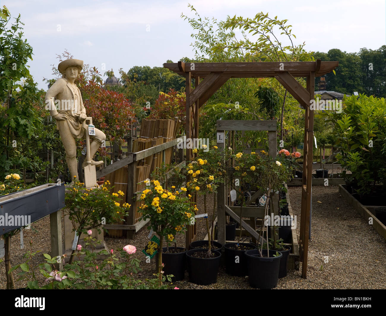 The garden centre at Castle Howard York selling plants and all kinds ...