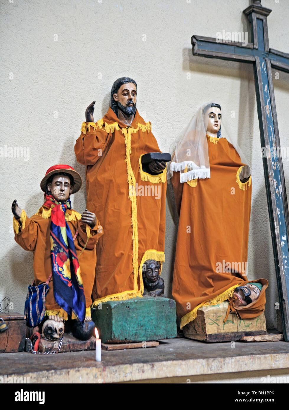 Statue in Santiago Apostle church, Santiago Atitlan, Guatemala Stock Photo