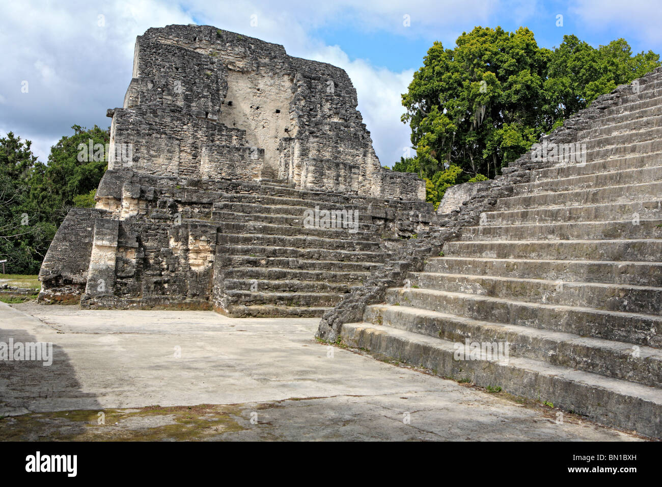 North Acropolis, Maya ruins of Tikal, near Flores, Guatemala - Stock Image