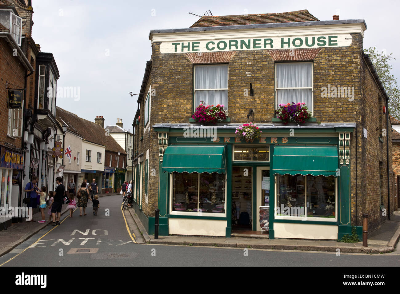 The Corner House Sandwich Kent - Stock Image